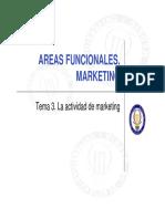 Tema 3. La Actividad de Marketing