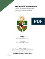 Final Exam Case Presentation