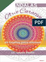 LIBRO ARTE CURATIVO- 63 Diseños Para Colorear