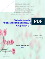 Trabajo Singular Grupo 1  Formación Estética Corporal (EDUCACIÓN ESTÉTICA)