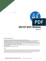 DataSheet ESP 07 WIFI Module En