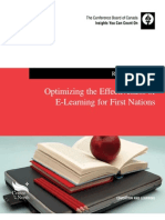Optimizing the Effectiveness of E-Learning for First Nations