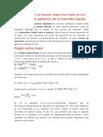 Modos de Operación Del Transistor