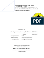 Laporan Resmi Praktikum Perbekalan Steril P5 & 6