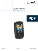 GPS Garmin Oregon 600 Manual en Español.