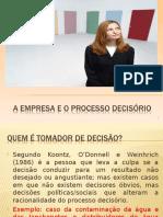 A Empresa e o Processo Decisório