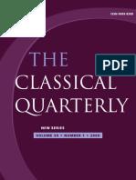 (The Classical Quarterly, Vol. 59, N° 1, 2009 59 1) The Classical Association. 59-Cambridge University Press (2009)