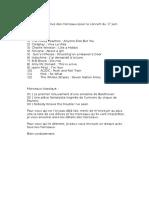 Liste Des Morceaux