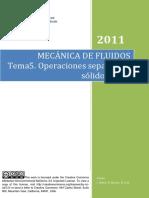 Tema 5 - Operaciones de Separacion Solido - Fluido
