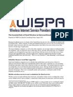 WISPA-Essential Role of Fixed Wireless
