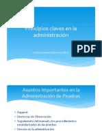 Principios claves de administración