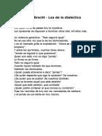 Bertolt Brecht Loa de La Dialéctica