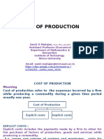 I 4 ST Cost of Production