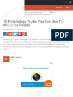10 Psychology Tricks You Can Use to Influence People - Listverse