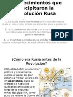 Acontecimientos Que Precipitaron La Revolución Rusa