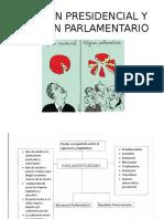 Régimen Presidencial y Régimen Parlamentario