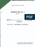 PURSUIT Newsletter No. 1, May 1967 - Ivan T. Sanderson