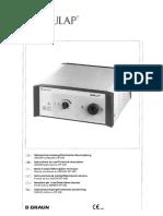 Cdd141426-Aesculap Light Source OP 930 - User Manual (1)