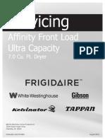 Frigidaire Affinity Dryer Service Manual