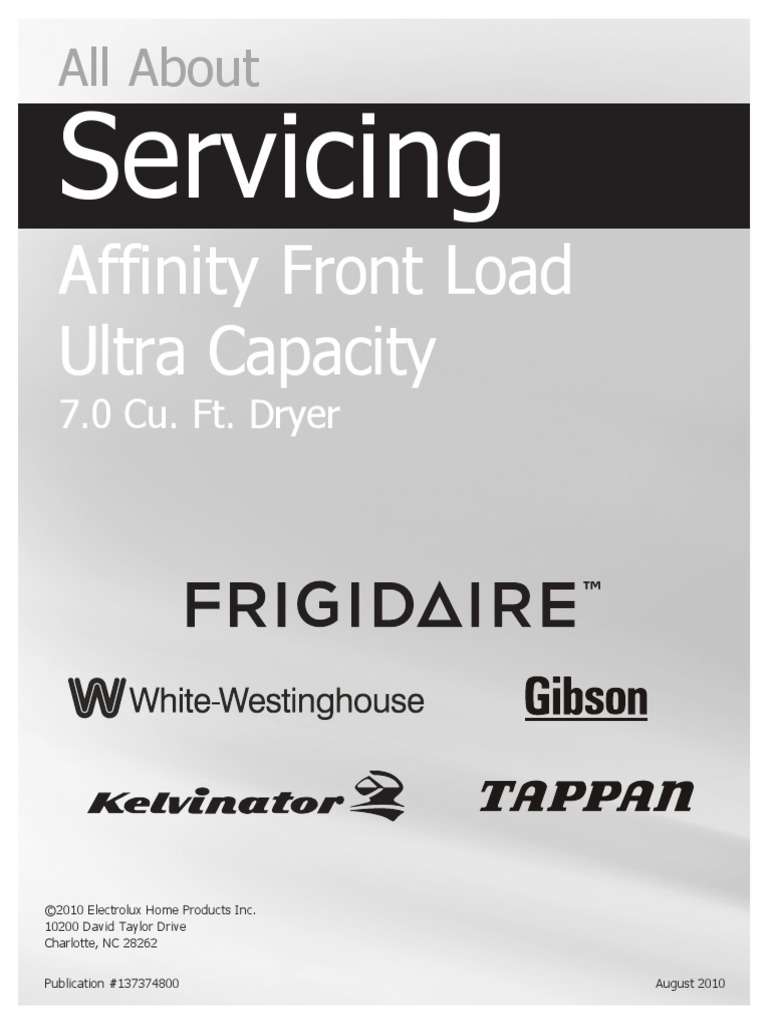Frigidaire Affinity Dryer Diagram Wiring Portal Clothes Service Manual Duct Flow Rh Scribd Com Repair