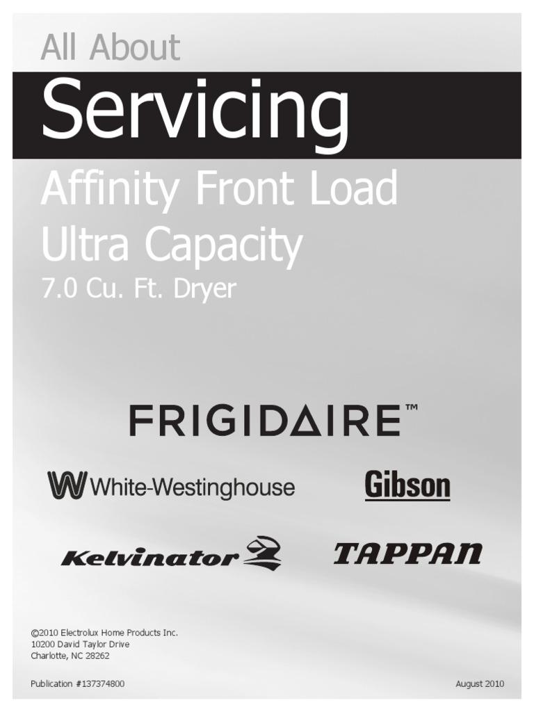 Frigidaire Affinity Dryer Diagram Wiring Portal Harness Service Manual Clothes Duct Flow Rh Scribd Com Belt