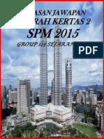 Modul Kupasan Jawapan Sej k2 Spm 2015