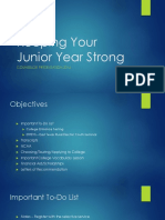 keeping your junior year strong junior presentation and transcripts