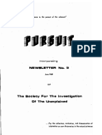 PURSUIT Newsletter No. 3, June 1968 - Ivan T. Sanderson
