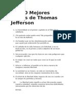 Las 70 Mejores Frases de Thomas Jefferson