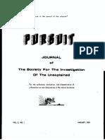 PURSUIT Newsletter No. 5, January 1969 - Ivan T. Sanderson