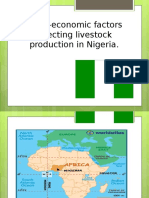 Socio-economic Issues Affecting Livestock Production in Nigeria