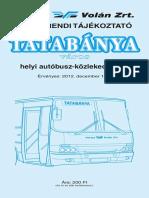 Tatabánya helyi menetrend.