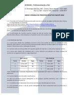Termo de Compromisso e Regras do Processo Seletivo Inglês 2016