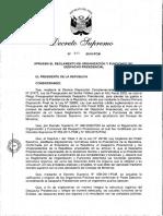 Creación de la Oficina de Apoyo al Cónyuge del Presidente de la República
