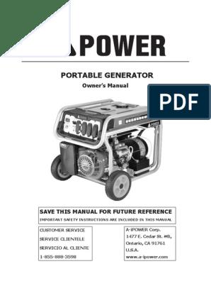 Mach Force Portable Generator Wiring Diagram on