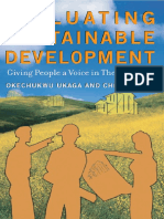 Evaluating Sustainable Development