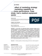 The Effect of Marketing Strategy and Marketing Capability on Business Performance-2009