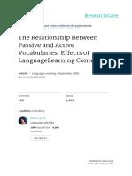 Relationship Passive-Active Vocabulary