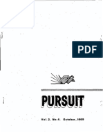 PURSUIT Newsletter No. 8, October 1969 - Ivan T. Sanderson
