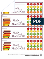 Reading Bookmark Punchcards
