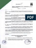 Resolucion Nro 87, Año 2010
