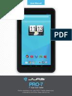 JLab PRO-7 Tablet User Manual