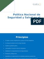 Nueva política salud y seguridad en el trabajo Chile
