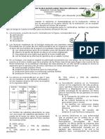examen ciencias 8° Reproducción y Leyes de Mendel