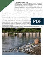 Contamincacion Del Agua