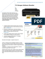 Reset Epson Stylus T13 Dengan Software Resetter