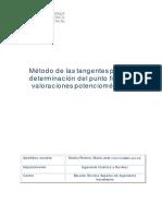 Método de Las Tangentes Para La Determinación Del Punto de Final en Valoraciones Potenciométricas