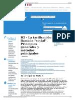 B2 - La Tarificación Llamada Social. Principios Generales