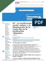 B7 - La Tarificación Social «Mixta» y La Disminución de La c