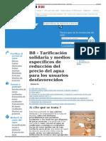 B8 - Tarificación Solidaria y Medios Específicos de Reducció